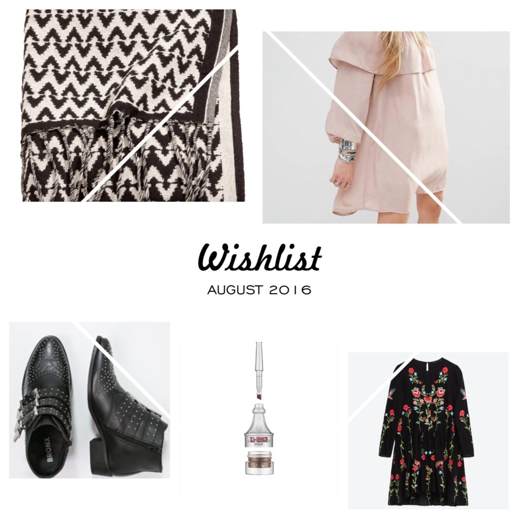 #Wishlist – August 2016