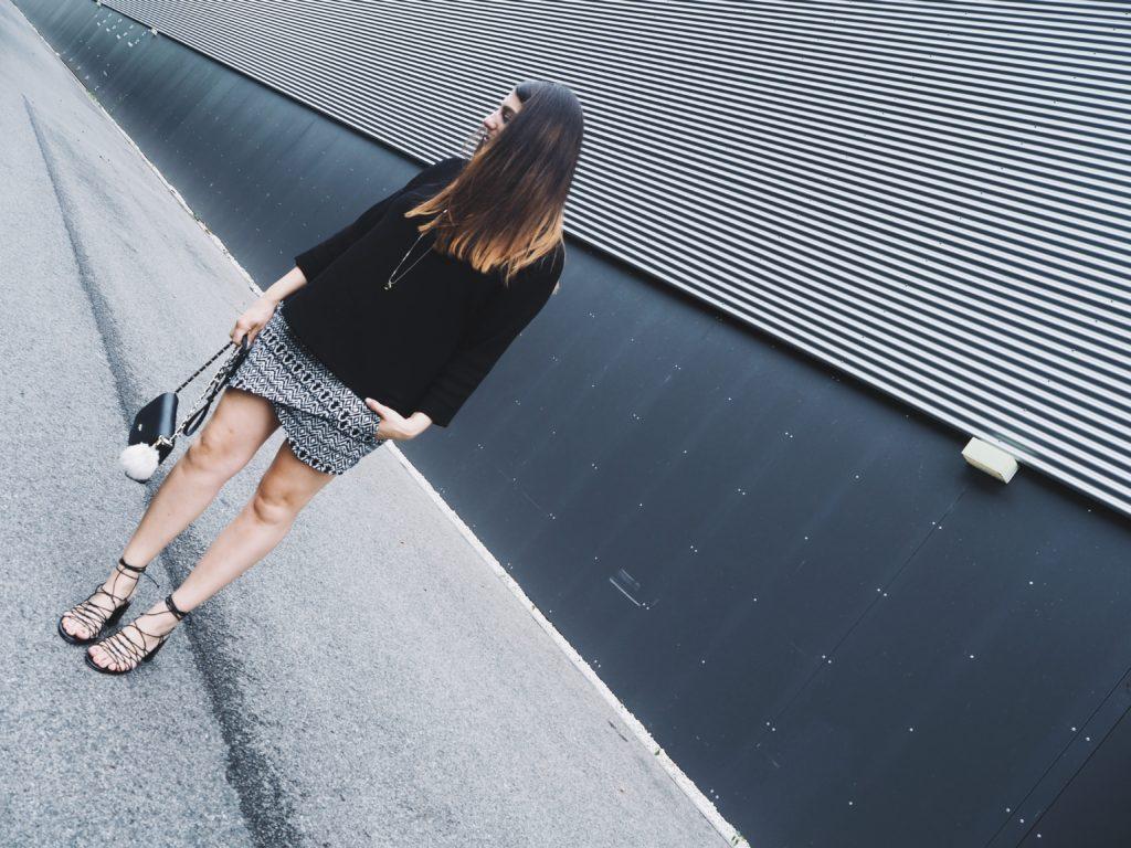 #Outfit: Hosenrock meets Pullover – unten Sommer, oben Herbst!