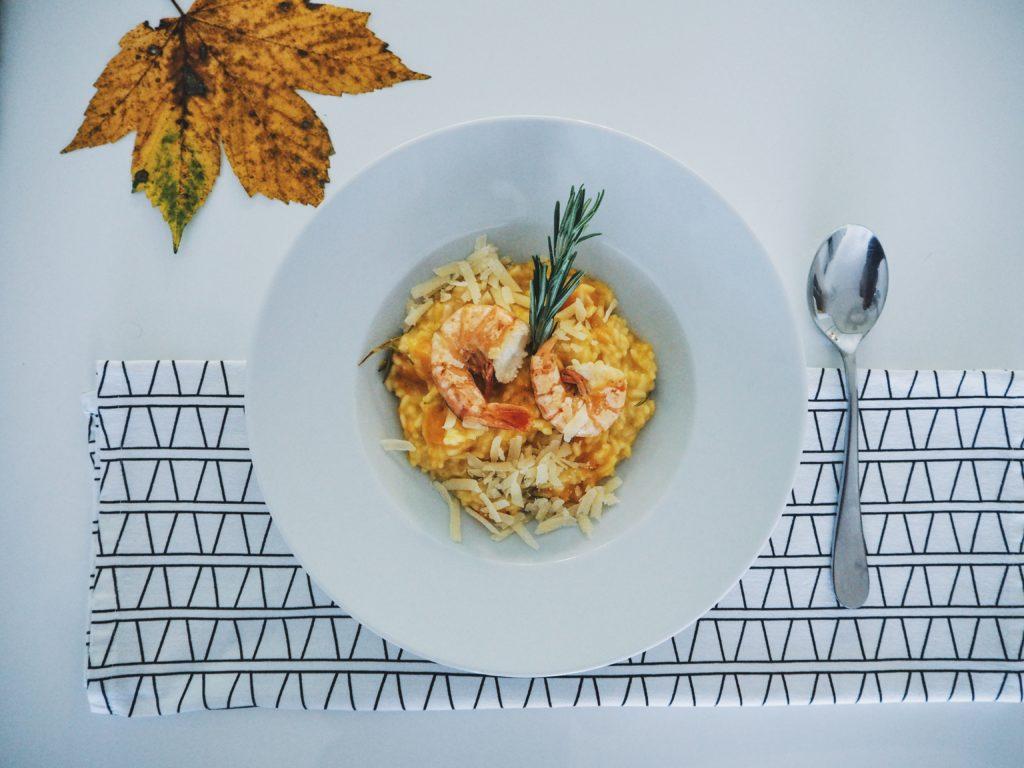 Rezeptidee: Kürbis Risotto mit Parmesan-Hobel