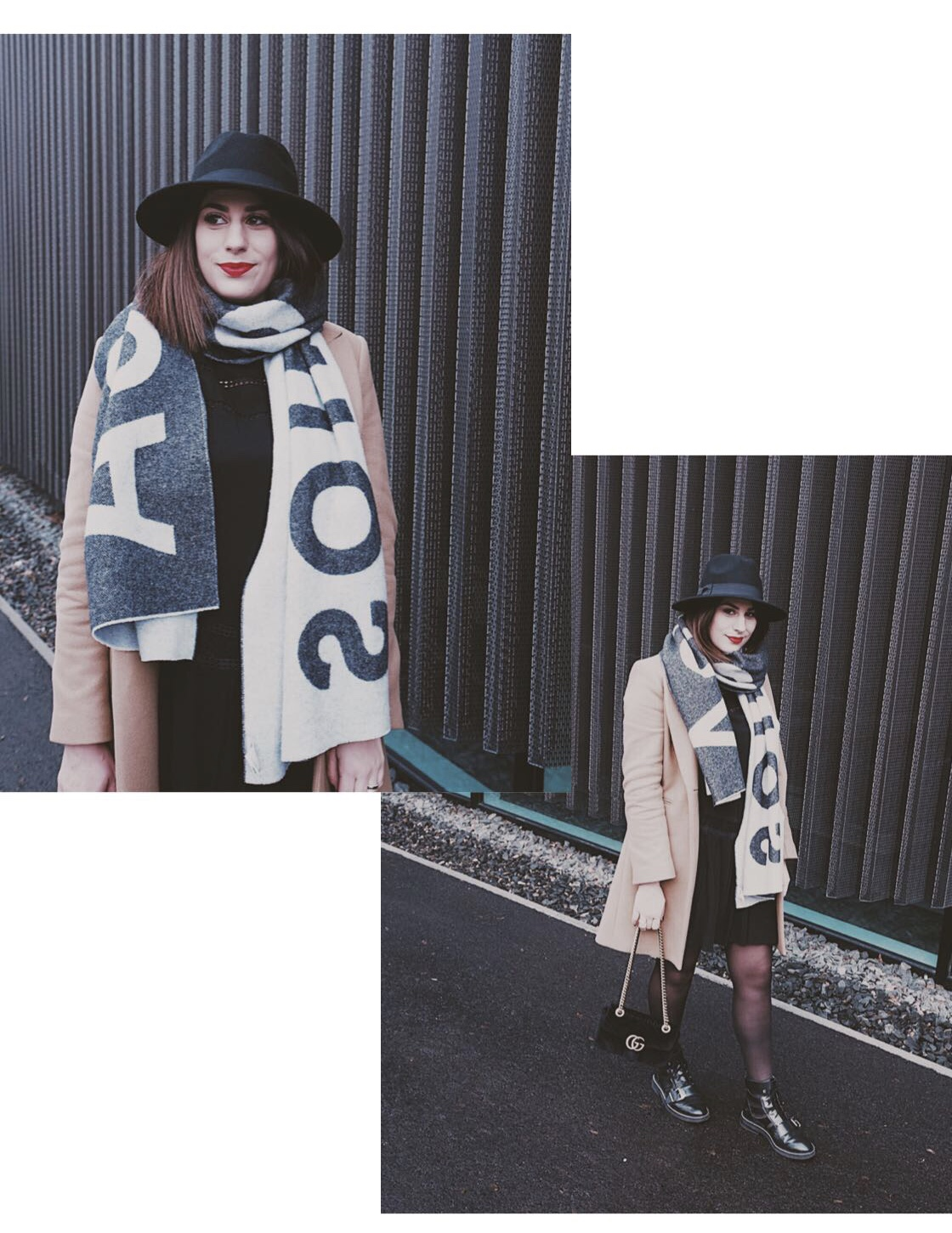 #Outfit: Camel Coat & Acne Studios Scarf