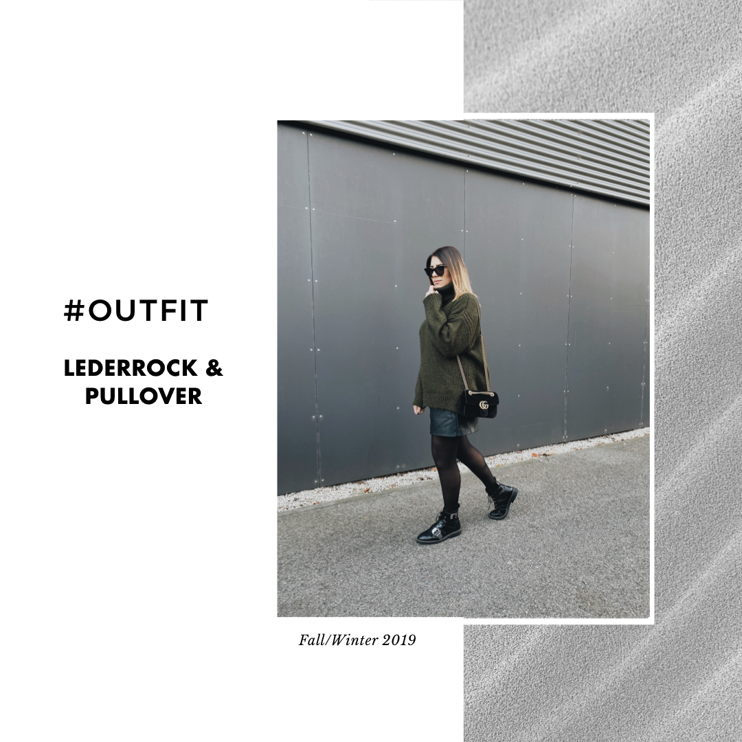 #Outfit: Lederrock & Pullover